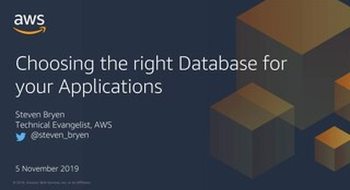 Choosing the right database for applications