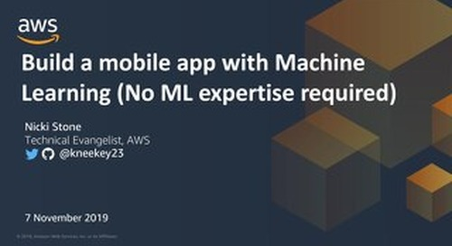Build a mobile app with machine learning (no ml expertise required)