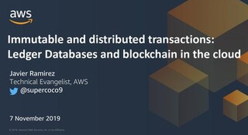Immutable & distributed transactions