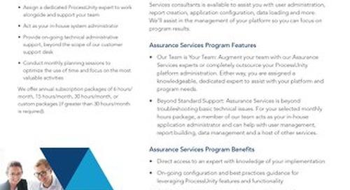 ProcessUnity Assurance Services