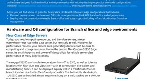 Microsoft Azure Stack HCI for Lenovo ThinkSystem SE350