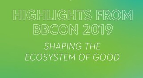 bbcon UK 2019: Shaping the Ecosystem of Good