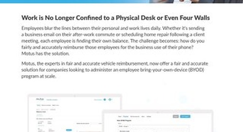 Motus Reimburse - Mobile Devices (BYOD) One Pager