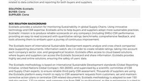 Ciena and EcoVadis Case Study by GEMI