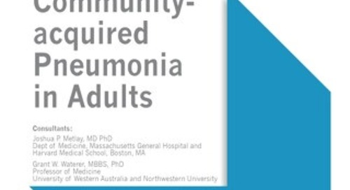Community Acquired Pneumonia in Adults