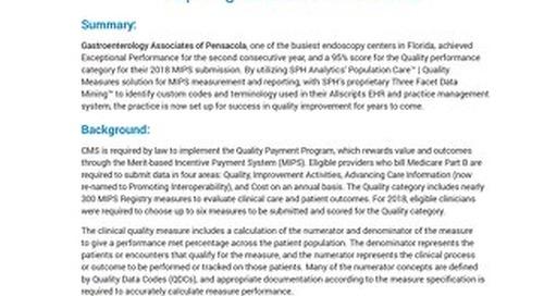 Case Study - Maximizing the Quality Performance Score