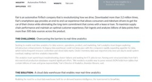 Fair: Achieving Near Real-Time Insights with Snowflake