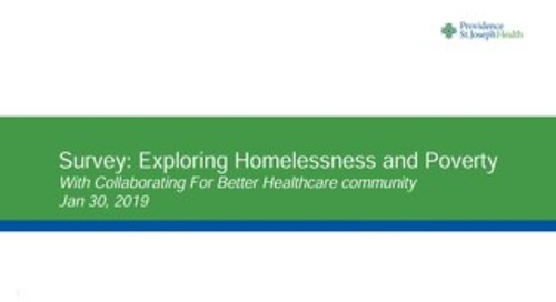Consumer Survey: Homelessness and Poverty