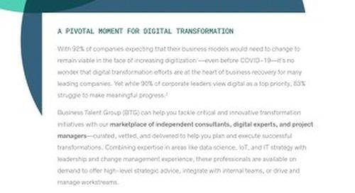 BTG Key Strengths: Digital Transformation