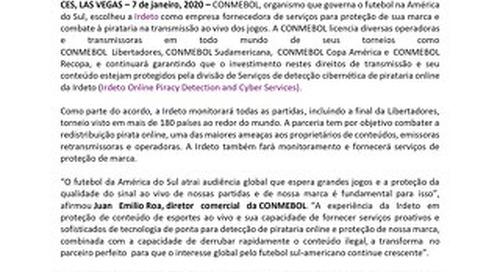 CONMEBOL seleciona Irdeto para Serviços de Detecção de Pirataria Online e Proteção de Marca