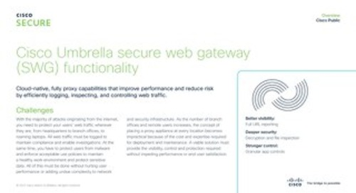 Cisco Umbrella secure web gateway (SWG)