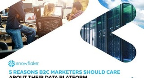 5 Reasons B2C Marketers Should Care About Their Data Platform
