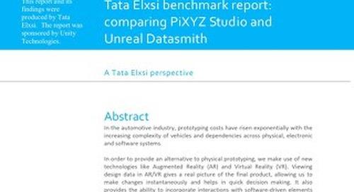 Tata Elxsi Benchmark Report: PiXYZ Studio vs. Unreal Datasmith