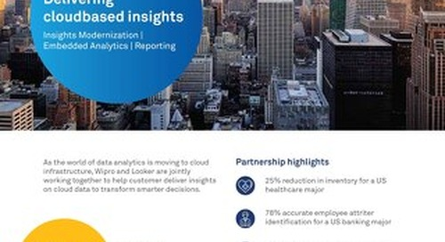 Delivering Cloud-Based Insights with Wipro + Looker