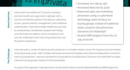 How Imprivata Uses Engagio to Rethink Its Sales Approach  |  Case Study