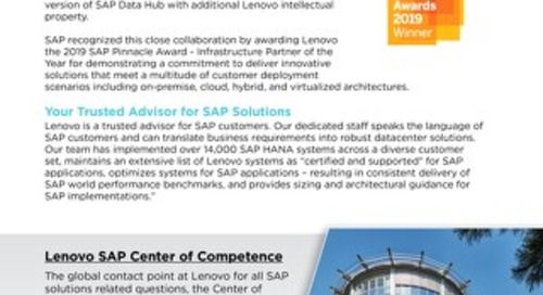 Lenovo and SAP Alliance Overview