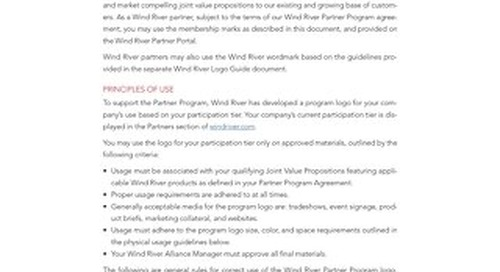 Wind River Partner Program Membership Mark Guide