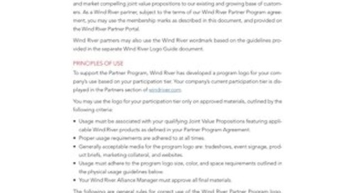 Wind River Partner Program Membership Mark Guide