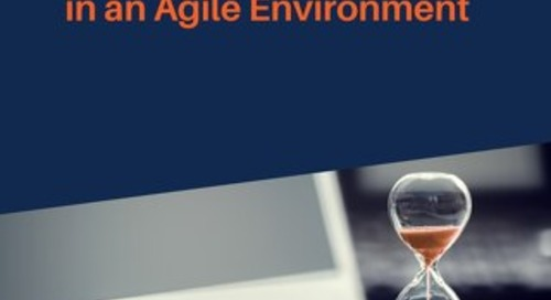 Just-in-Time Training in an Agile Environment