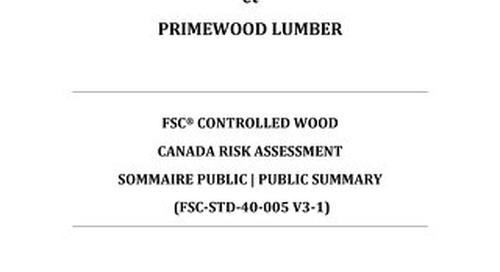 Primewood Lumber-Risk Assessment CAN