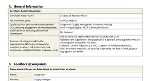 DDS Public Summary Std- Les Bois de Plancher PG Inc._ENG