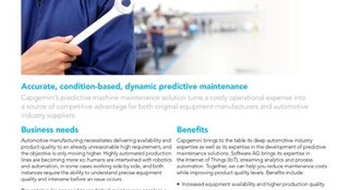 Predictive Machine Maintenance by Capgemini & Software AG