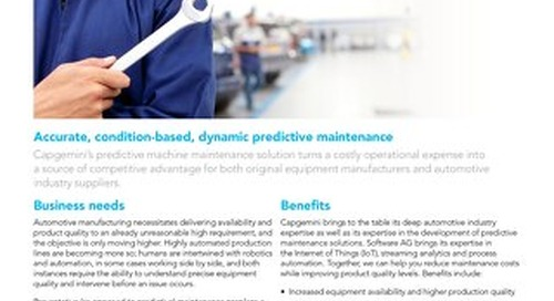 Predictive Machine Maintenance by Capgemini & Software AG