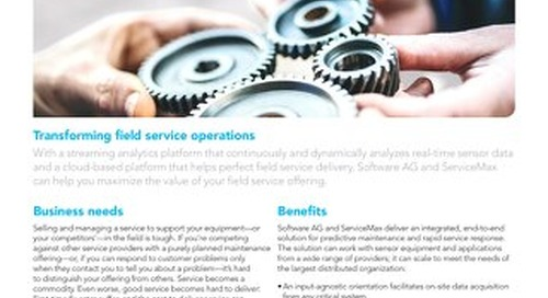 SMART FIELD SERVICE AND MAINTENANCE BY SERVICEMAX