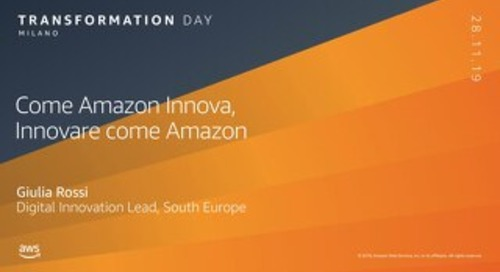 Come Amazon Innova, innovare come Amazon