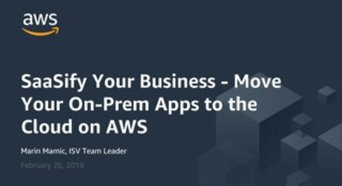 SaaSify Your Business (AWS Summit Berlin 2019)