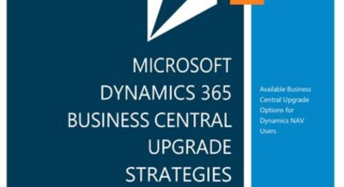Dynamics 365 Business Central Upgrade Strategies