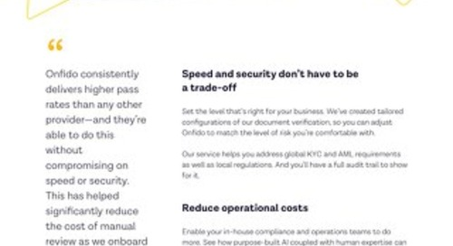 Datasheet: Onfido & Financial Services