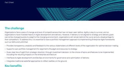 Fact Sheet: Enterprise Agile with Alfabet