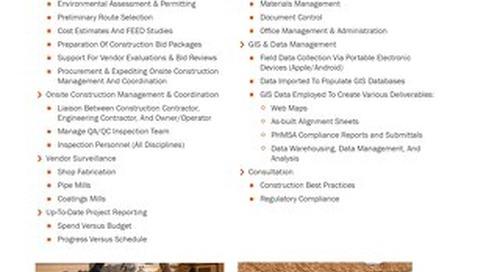 Pipeline Construction Management Inspection