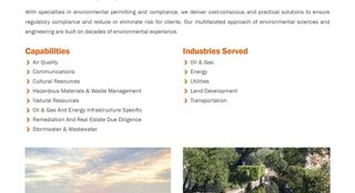 Environmental Regulatory Services