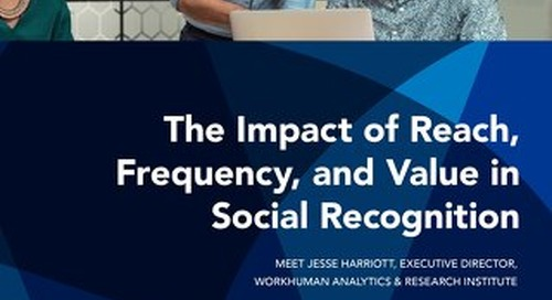 The Impact of Reach, Frequency, and Value in Social Recognition