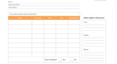 Helping Clients Succeed - Decision Grid Tool