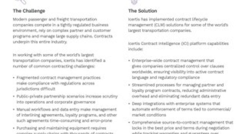Icertis Contract Management for Transportation