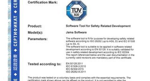 TUV SUD Certificate