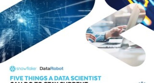 Five Things A Data Scientist Can Do To Stay Current