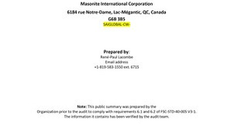 Masonite International–DDS Public Summary