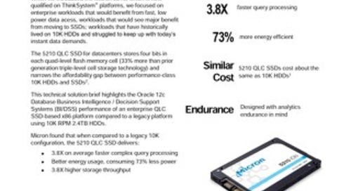 Accelerate Oracle Database 12c Enterprise by 3.8X