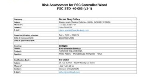 Norske Skog Gobley - FSC France