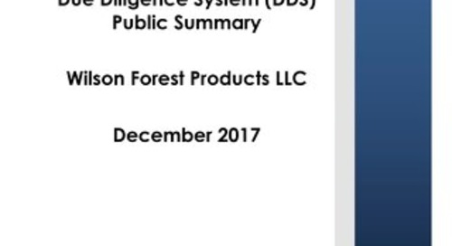 Wilson Forest Products LLC DDS Summary