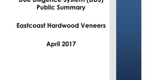 Eastcoast Hardwood Veneer Inc. - DDS Summary