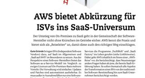AWS bietet Abkürzung für ISVs ins SaaS-Universum