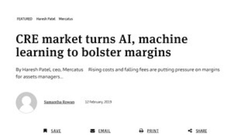 CRE Market Turns AI, Machine Learning To Bolster Margins