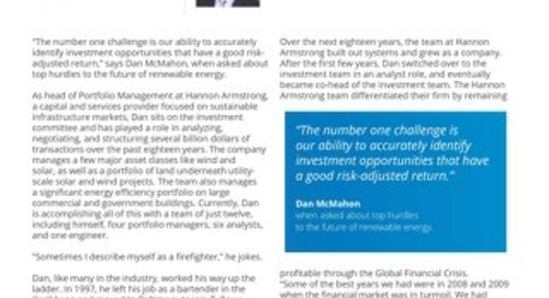 Customer Profile | Dan McMahon from Hannon Armstrong