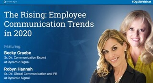 The Rising: Employee Communication Trends in 2020