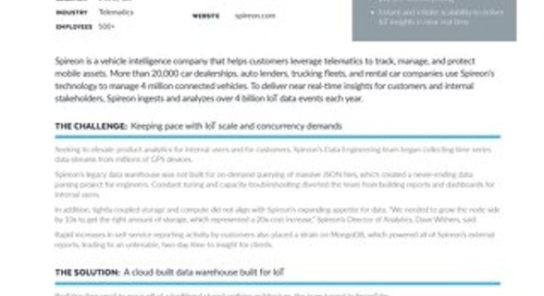 Spireon: Accelerating Data Analytics for IOT with Snowflake